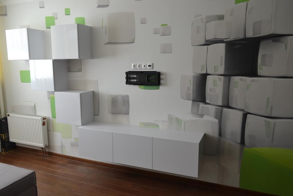 Білі меблі в вітальню на заказ