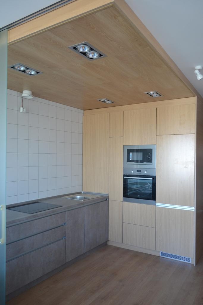 Кухня бетон і дерево на заказ