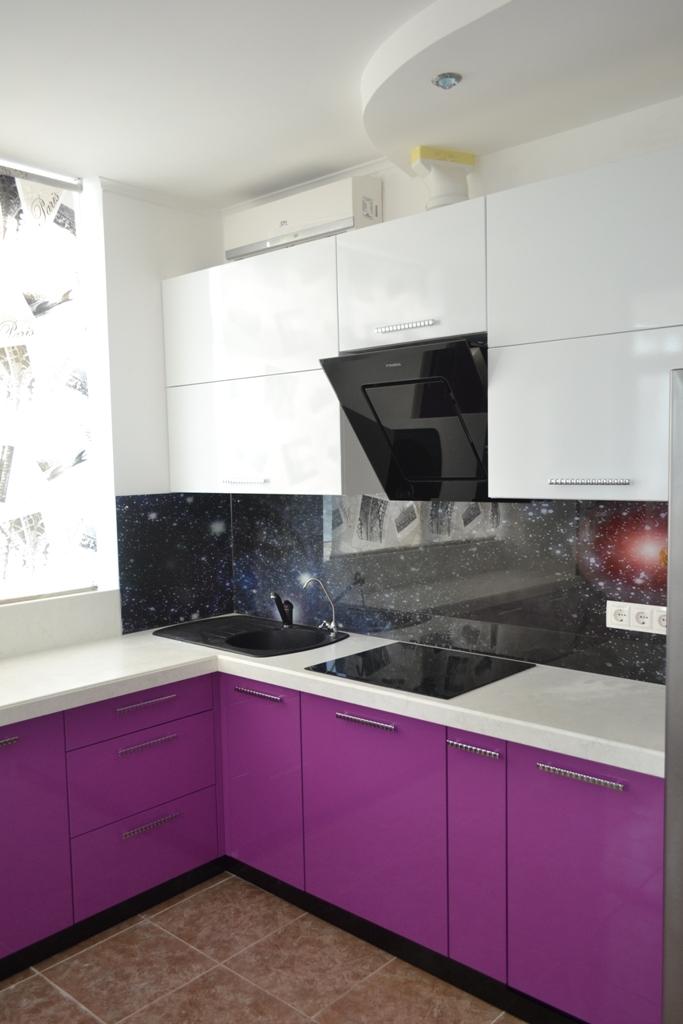 Фиолетовая кухня на заказ