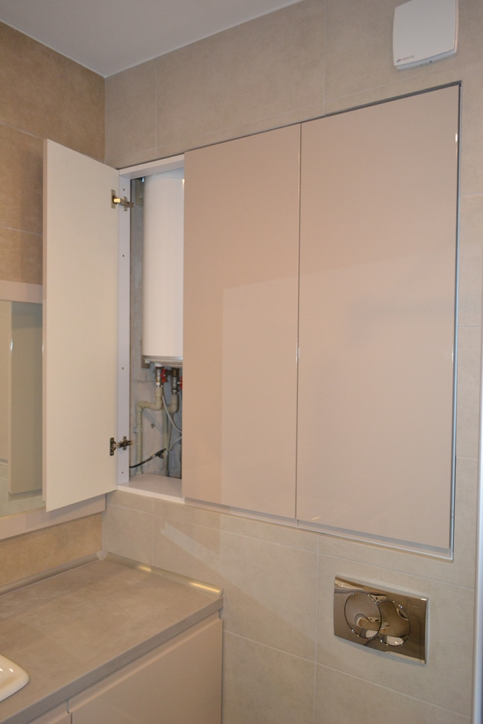 Кремові меблі для ванної кімнати на заказ