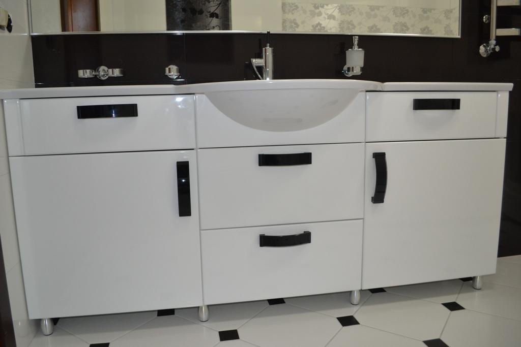 Меблі для ванної біла тумба під умивальник на заказ